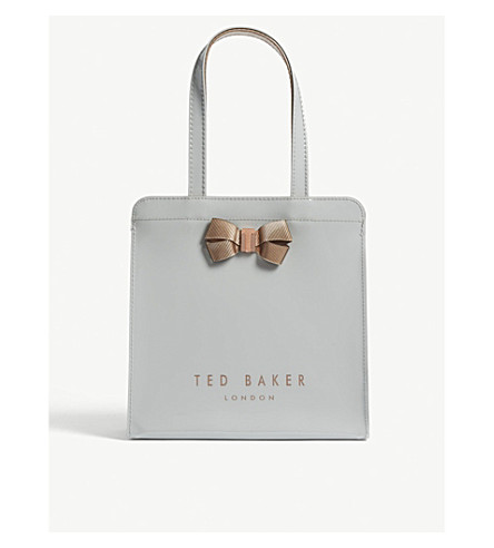 TED BAKER Kriscon small Icon shopper (Mid+grey