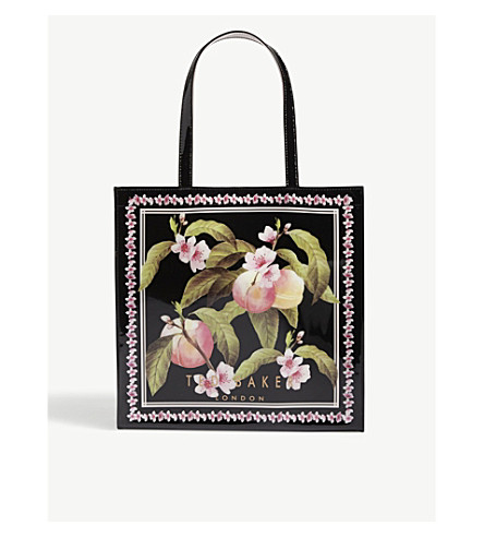 TED BAKER Blossom print large icon tote bag (Black