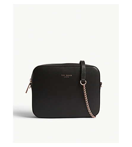 TED BAKER Logo leather cross-body bag (Black