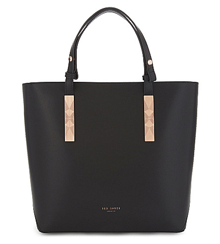 TED BAKER Jaceyy leather shopper bag (Black