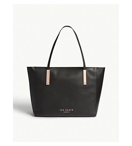 TED BAKER Statement leather tote (Black