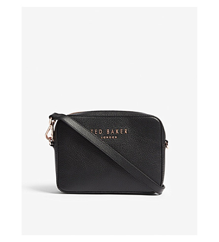 TED BAKER Susi logo leather camera bag (Black
