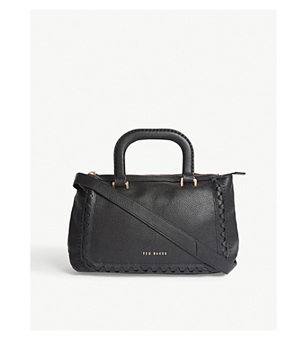 TED BAKER Tia grained leather tote (Black