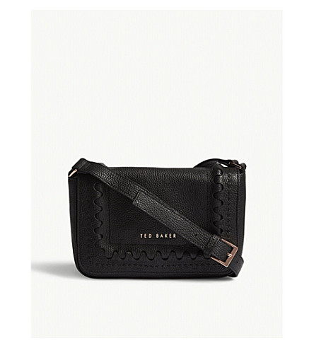 TED BAKER Tippi grained leather cross-body bag (Black