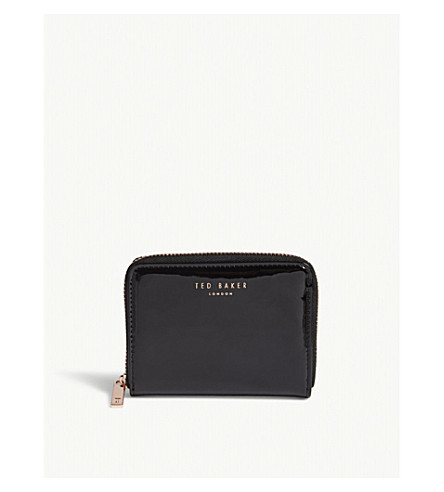 TED BAKER Omarion patent leather mini purse (Black