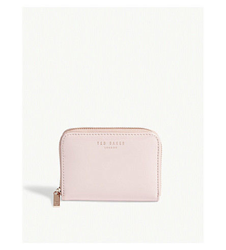 TED BAKER Omarion patent leather mini purse (Light+pink