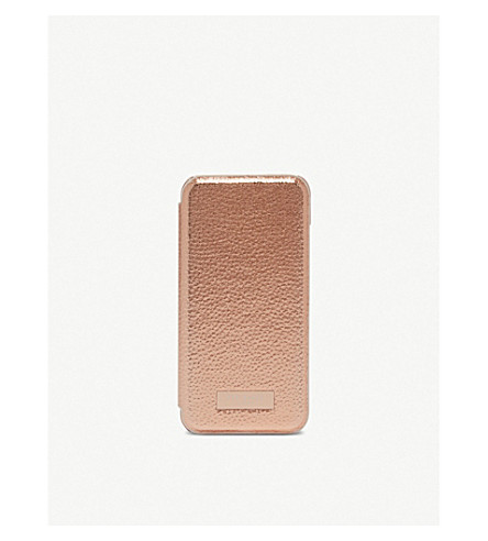 TED BAKER Cedar protect & reflect iPhone 7 case (Rose+gold