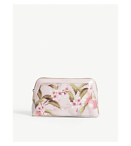 TED BAKER Blondel floral make up bag (Light+pink