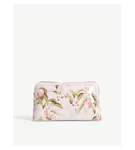 TED BAKER Brenton floral wash bag (Light+pink