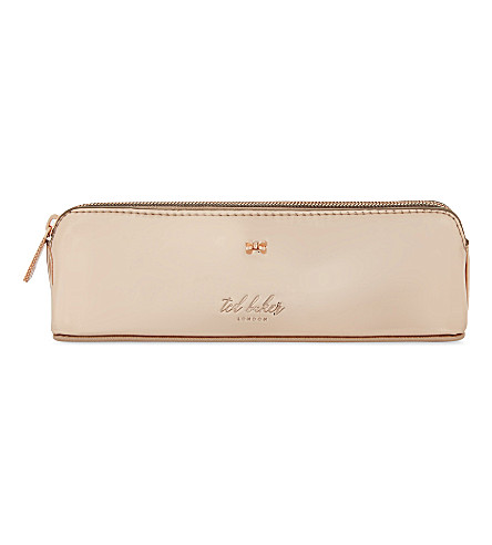 TED BAKER Leanora mirrored pencil case (Rose+gold