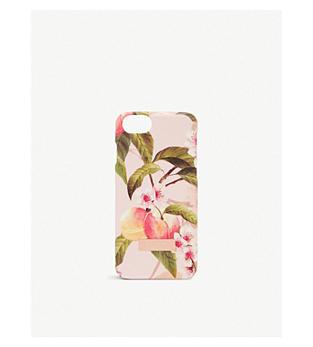 TED BAKER Blossom print iPhone 8 case (Light+pink