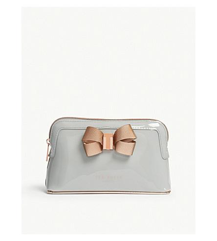 TED BAKER Bow make up bag (Mid+grey