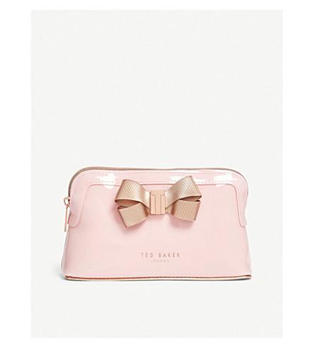 pálido color rosa TED BAKER Bolsa lazo con de maquillaje nvPZvqw8