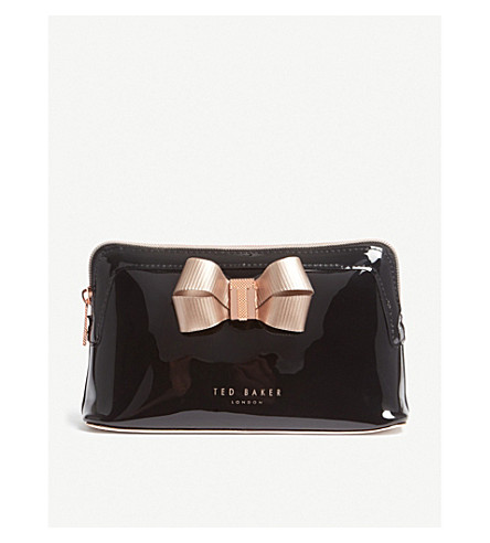 TED BAKER Bow make up bag (Black