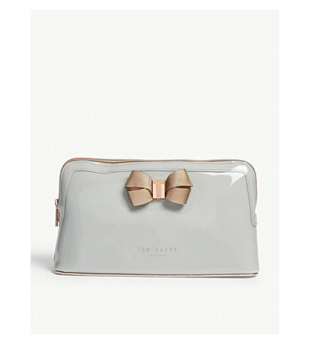 TED BAKER Libbert bow wash bag (Mid+grey