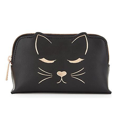 TED BAKER Tyisha 迷你猫化妆袋 (黑色