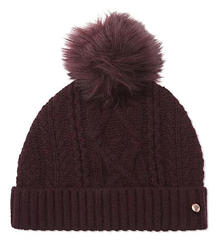 TED BAKER Inita pom 毛线帽帽 (Oxblood