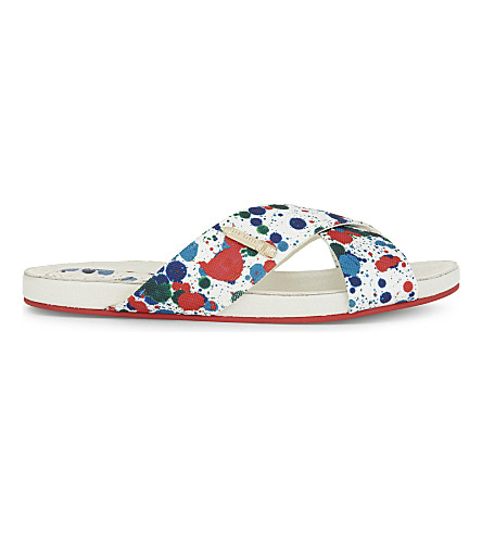 TED BAKER Colour by Numbers flat strap sandals (White