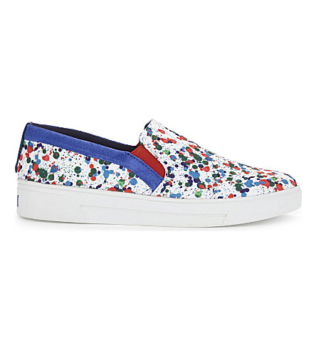 TED BAKER Colour by Numbers paint-splash trainers (White