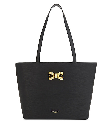 TED BAKER Bowdai looped bow small tote (Black