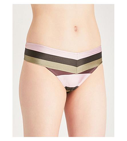 TED BAKER Terena mid-rise bikini bottoms (Dusky+pink