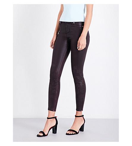 TED BAKER Aymmee printed skinny mid-rise jeans (Maroon