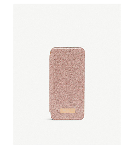 TED BAKER Glitter Samsung Galaxy S8 mirrored case (Rosegold+col