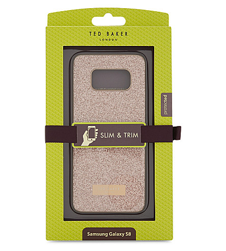 TED BAKER Glitter Samsung Galaxy S8 case (Rosegold+col