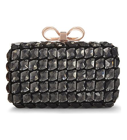 TED BAKER Embellished cross-body bag (Black