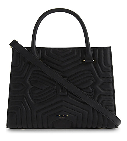 TED BAKER Veira quilted leather tote (Black