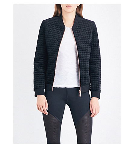 TED BAKER Prindil quilted velvet bomber jacket (Black