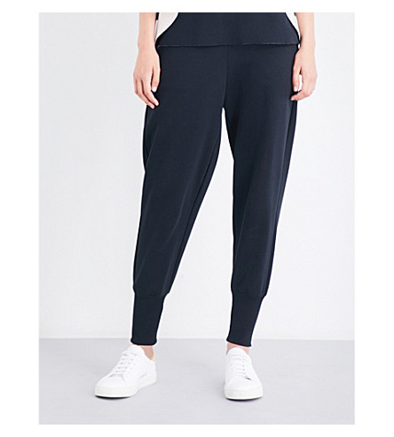 TED BAKER Relaxed-fit skinny jersey jogging bottoms (Black