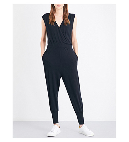 TED BAKER Lyco V-neck jumpsuit (Black