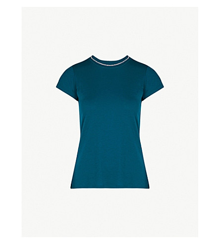 TED BAKER Colour by Numbers Ilia jersey T-shirt (Teal