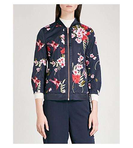 TED BAKER Hemma woven bomber jacket (Navy