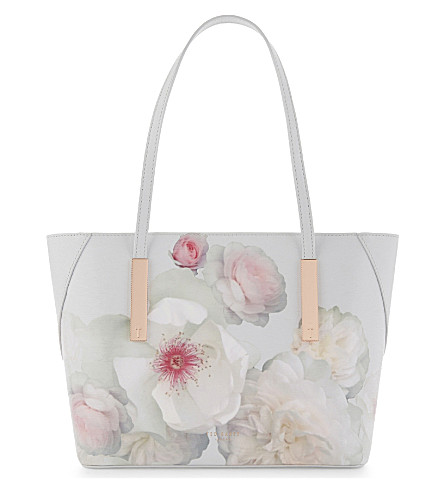 TED BAKER Chelsea leather tote (Light+grey