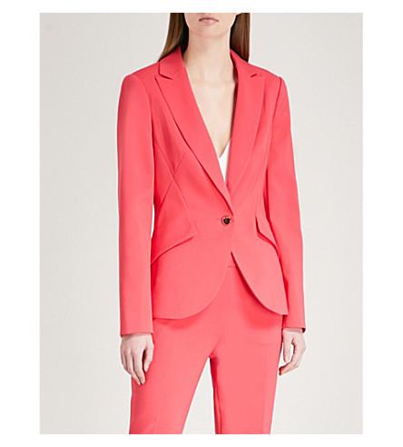 TED BAKER Slim-fit woven jacket (Deep+pink