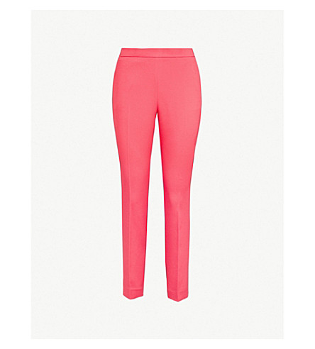TED BAKER Cropped woven trousers (Deep+pink
