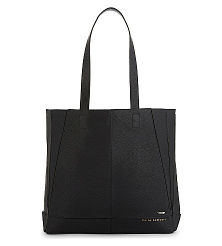 TED BAKER Litchi foldable faux-leather tote (Black