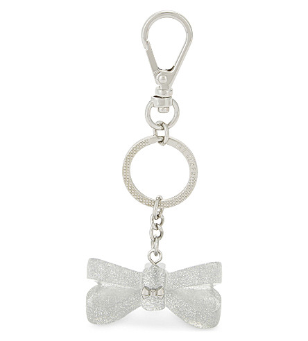 TED BAKER Resin bow bag charm (Clear