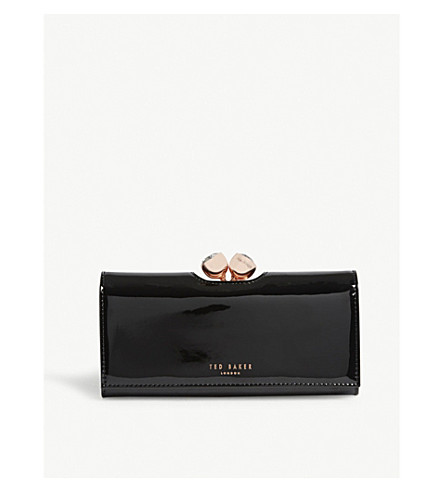 TED BAKER Matinee patent leather wallet (Black
