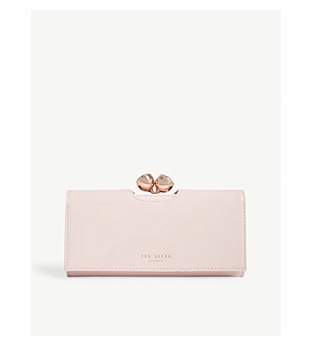 TED BAKER Honeyy patent leather matinee purse (Light+pink