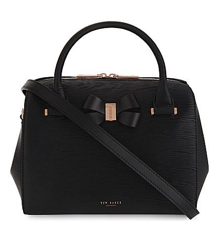 TED BAKER Cacia leather bowler bag (Black