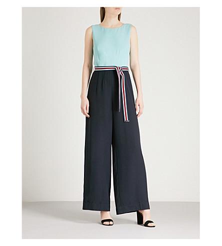 TED BAKER Colour-block crepe jumpsuit (Mint