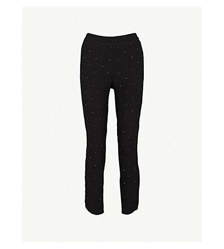 TED BAKER Bobbii relaxed-fit crepe jogging bottoms (Black