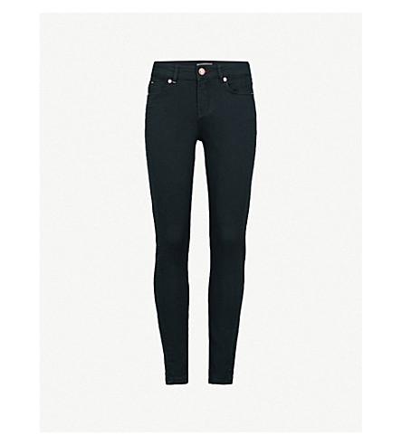 TED BAKER Embellished skinny mid-rise jeans (Dark+blue