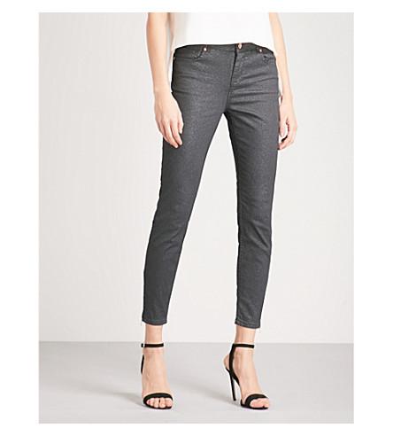 TED BAKER Sparqli glittery skinny mid-rise jeans (Black