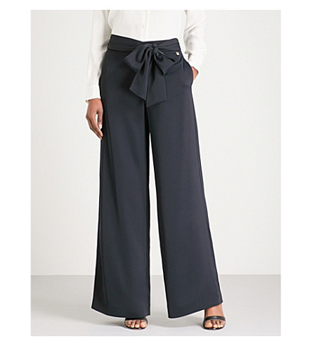 TED BAKER Maurli wide-leg trousers (Dark+blue