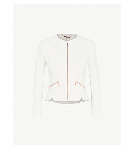 TED BAKER Zipped woven jacket (White