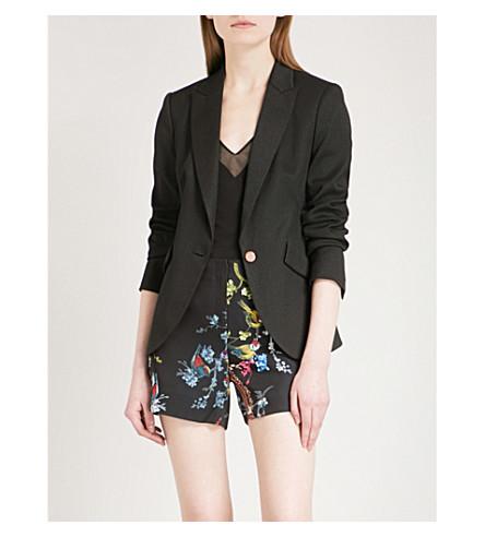TED BAKER Diamond-jacquard jacket (Black